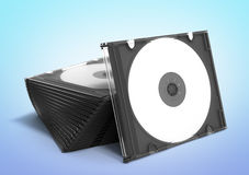3D CD cases open on gradient background Royalty Free Stock Photo