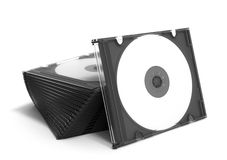 3D CD cases open on white background royalty free illustration