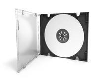 3D CD cover open on white background Stock Photo