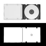 3D CD cover open on white background with alpha Stock Photos