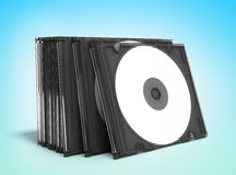 3D CD covers open on gradient background Stock Photography