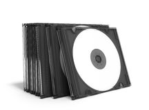 3D CD covers open on white background Royalty Free Stock Photos