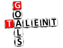 3D celów talentu Crossword Zdjęcia Stock