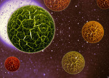 3d cell virus. Bacteria background Stock Photo