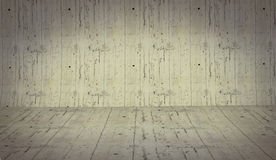Realistic 3D presentation empty room - floor cement background  Stock Photography