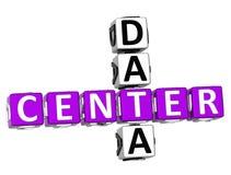 3D Center Data Crossword. On white background Royalty Free Stock Images