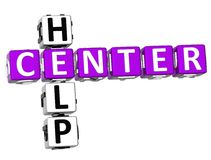 3D Center Help Crossword. On white background Royalty Free Stock Photography