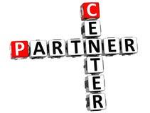3D Center Partner Crossword. On white background Stock Photography