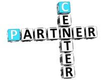 3D Center Partner Crossword. On white background Royalty Free Stock Images