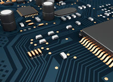 3d Central Computer Proccesors CPU. Stock Photos