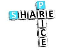 3D ceny akcji sprzedaży Crossword tekst Zdjęcia Stock