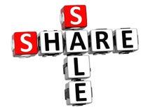 3D ceny akcji sprzedaży Crossword tekst Zdjęcie Stock