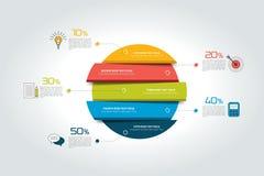 3d cercle, infographic rond, calibre, diagramme, plan, diagramme, table, programme, élément Images libres de droits