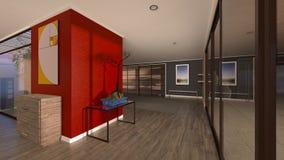 3D CG die of residence teruggeven royalty-vrije illustratie