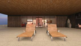 3D CG die of residence teruggeven vector illustratie