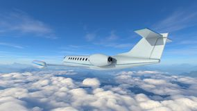 Airplane. 3D CG rendering of an airplane Stock Photos
