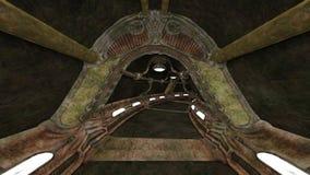 3D CG rendering of ancient ruins vector illustration