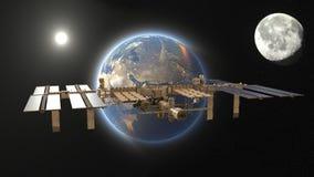 Artificial satellite Royalty Free Stock Photos