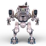 Battle robot. 3D CG rendering of a battle robot stock illustration
