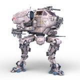 Battle robot. 3D CG rendering of a battle robot vector illustration
