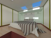 Bed room. 3D CG rendering of the bed room Royalty Free Stock Photos