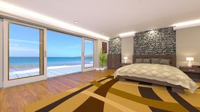Bed room. 3D CG rendering of the bed room Royalty Free Stock Photo