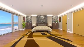 Bed room. 3D CG rendering of the bed room Royalty Free Stock Image