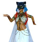 Belly dancer. 3D CG rendering of a belly dancer Royalty Free Stock Image