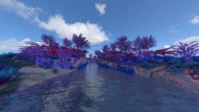 Brook. 3D CG rendering of the brook Stock Photos