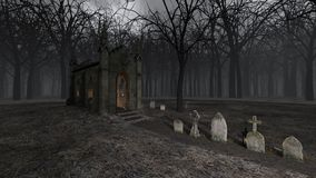 Church and Grave. 3D CG rendering of Church and Grave royalty free stock images