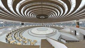 Circular hall. 3D CG rendering of the circular hall stock images