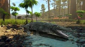 Crocodile. 3D CG rendering of a crocodile vector illustration