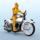 Cyborg rider. 3D CG rendering of a cyborg rider Stock Photo