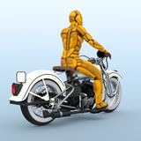 Cyborg rider. 3D CG rendering of a cyborg rider Royalty Free Stock Photos