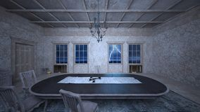 Dining room. 3D CG rendering of the dining room Royalty Free Stock Image