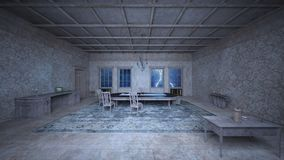 Dining room. 3D CG rendering of the dining room Royalty Free Stock Photos