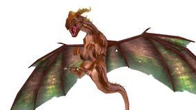 Dragon. 3D CG rendering of a dragon royalty free illustration
