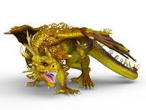 Dragon. 3D CG rendering of a dragon stock illustration