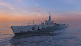 Escort ship. 3D CG rendering of the escort ship stock image