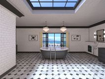 Bathroom. 3D CG rendering of the fancy bathroom Royalty Free Stock Photography