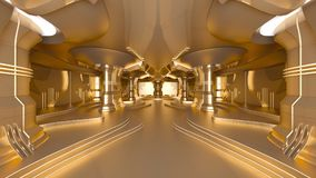 Space station. 3D CG rendering of the golden space station Royalty Free Stock Photos