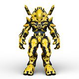 3D CG rendering of Humanoid stock illustration