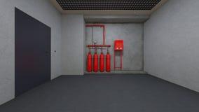 Institute hallway. 3D CG rendering of the institute hallway Stock Images