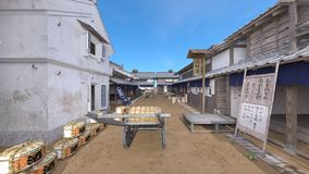 Japanese castle town. 3D CG rendering of the Japanese castle town Stock Photo
