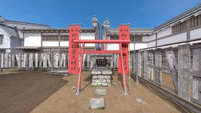 Japanese castle town. 3D CG rendering of the Japanese castle town Royalty Free Stock Photos