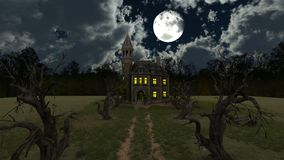 Mansion. 3D CG rendering of the mansion Royalty Free Stock Photography