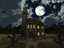 Mansion. 3D CG rendering of the mansion Stock Photo
