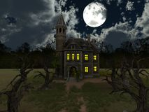 Mansion. 3D CG rendering of the mansion Royalty Free Stock Photo