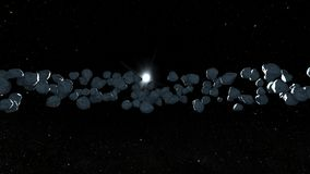 Meteorite. 3D CG rendering of the meteorite stock photo