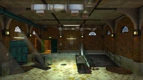 Morgue. 3D CG rendering of the morgue Stock Photo